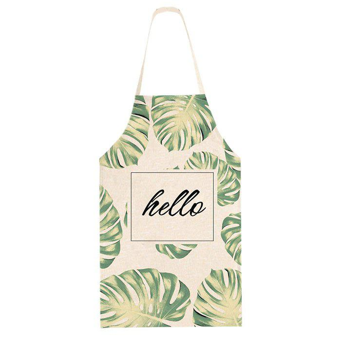 Leaves Printed Apron for Family Party Cooking