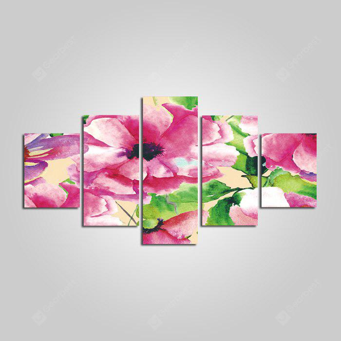 Pretty Flowers Print Frameless Canvas Wall Painting 5PCS