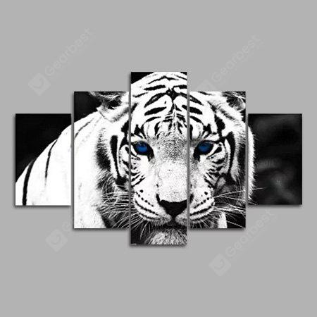 Modern Canvas Prints Tiger Hanging Wall Art 5PCS