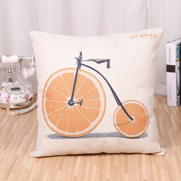 LAIMA BZ171 - 2 Bicycle Pattern Flax Throw Pillow Case