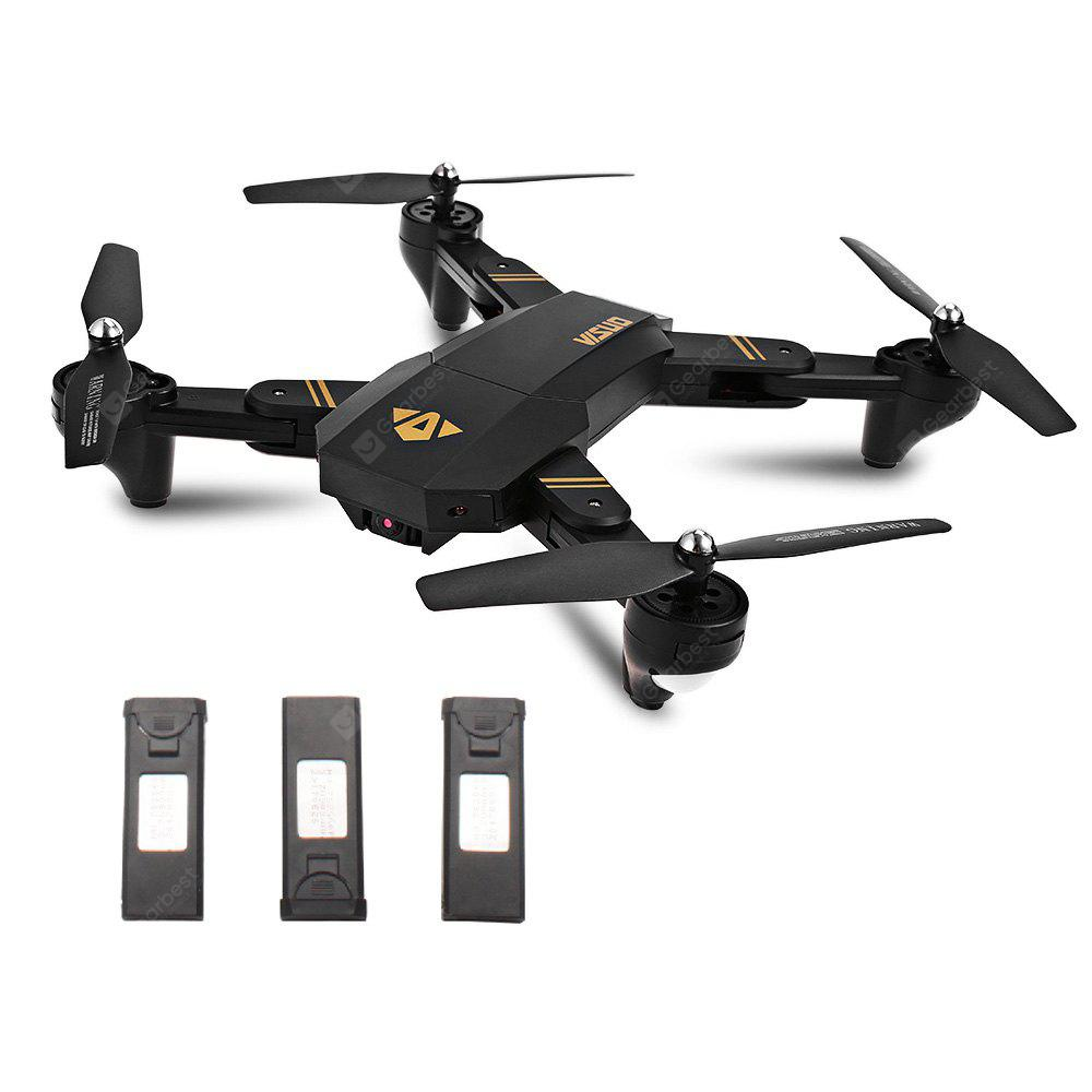 TIANQU XS809W Foldable RC Quadcopter - RTF - BLACK WITH THREE BATTERIES 2MP CAMERA + AIR PRESS ALTIT