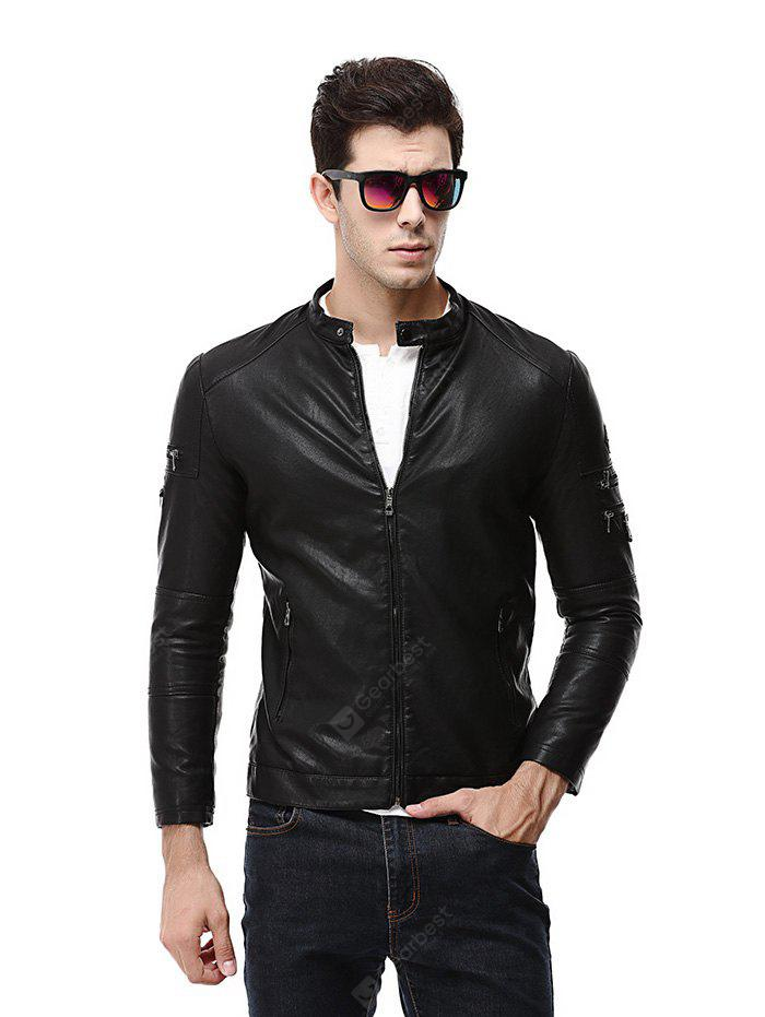 Fashion Long Sleeve Leather Jacket