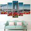Modern Canvas Prints Bridge Hanging Wall Art 5PCS - COLORMIX