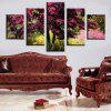 Modern Canvas Prints Tree Flower Hanging Wall Art 5PCS - COLORMIX