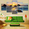 Modern Spectacular View Frameless Canvas Print 5PCS - COLORI MISTI