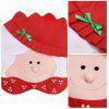 MCYH Christmas Decoration Chair Cover 2PCS - RED WITH WHITE