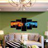 God Painting Unframed Flame Fist Stampe Cool Wall Art 5PCS - COLORI MISTI