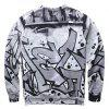 Mr 1991 INC Miss Go Stylish Printing Sweatshirt - GRAY