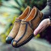 Male Vintage Soft Stitching Casual Flat Loafer - KHAKI