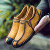 Male Vintage Soft Stitching Casual Flat Loafer - BROWN