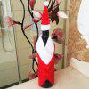 MCYH Cute Christmas Wine Bottle Decoration 2PCS - RED AND WHITE
