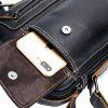 BULLCAPTAIN Men Genuine Leather Shoulder Bag - BLACK
