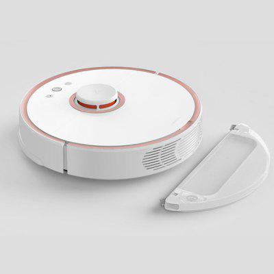 roborock S50 Smart Robot Vacuum CleanerRobot Vacuum<br>roborock S50 Smart Robot Vacuum Cleaner<br><br>Battery Capacity: 5200mAh<br>Battery Type: Li-ion<br>Brand: roborock<br>Cleaner Types: Vacuum Cleaner<br>Current: 2.2A<br>Dust Box Capacity: 0.48L<br>Feature: Self Charging, Remote Control, Mop<br>Function: Sweep, Suction, Mopping<br>Input Voltage (V): 100 - 240V<br>Model: S50<br>Package Contents: 1 x Robot Vacuum, 1 x EU Plug Adapter, 1 x Charging Dock, 1 x Water Tank, 1 x Mopping Pad, 1 x English User Manual<br>Package size (L x W x H): 56.60 x 43.30 x 15.20 cm / 22.28 x 17.05 x 5.98 inches<br>Package weight: 6.5000 kg<br>Power (W): 58W<br>Product size (L x W x H): 35.30 x 35.00 x 9.65 cm / 13.9 x 13.78 x 3.8 inches<br>Product weight: 3.5000 kg<br>Self Recharging: Yes<br>Suction (pa): 2000pa<br>Voltage(V): 14.4V<br>Water Tank Capacity: 0.14L<br>Working Time: 2.5h