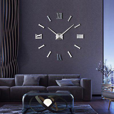 Timelike T4237S DIY 3D Roman Number Wall Clock