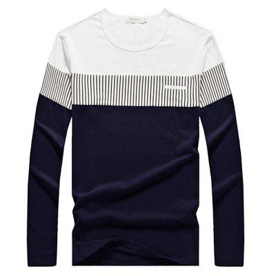 Buy PURPLISH BLUE L Brief Casual Contrasting Color T-Shirt for $16.43 in GearBest store