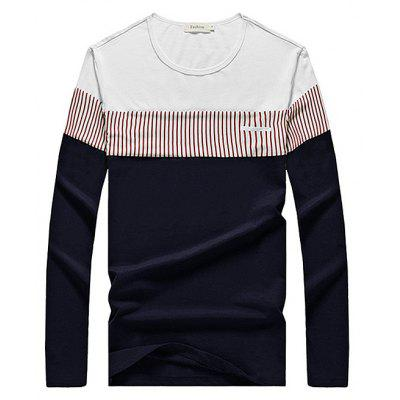 Buy COLORMIX L Brief Casual Contrasting Color T-Shirt for $16.43 in GearBest store