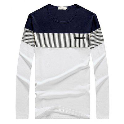 Buy WHITE XL Brief Casual Contrasting Color T-Shirt for $16.43 in GearBest store