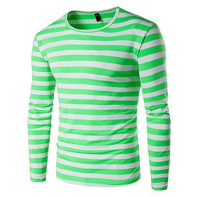 Casual Striped Fitted T-Shirt