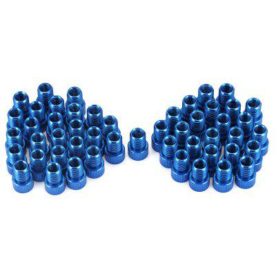 CTSmart Aluminum Alloy Bike Tyre Valve Adapter 50PCS