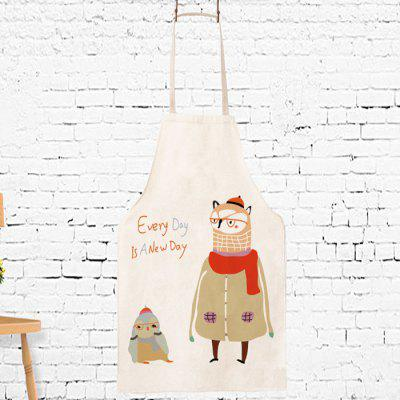 Creative Cartoon Owl Pattern Cooking Apron