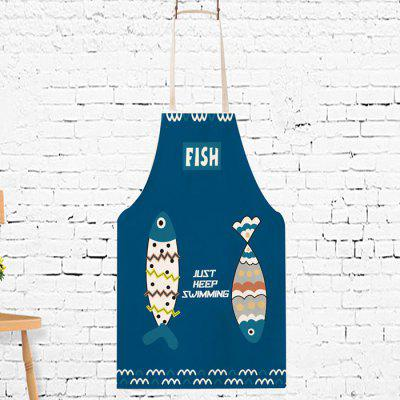 Funny Cartoon Fish Pattern Cooking Apron