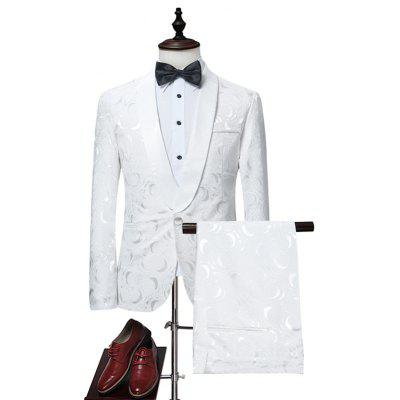 Male Pure Color Slim Fit Casual One Button Blazer Suits