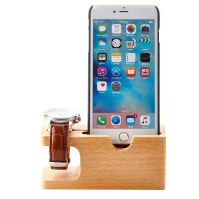 Practical Bamboo Material Charging Stand