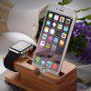 Practical Bamboo Material Charging Stand - WOODEN VERSION