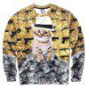 Mr.1991INC Miss.GO Leisure 3D Cat Printing Sweatshirt - COLORMIX