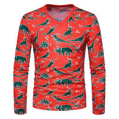 Animals Printing Long Sleeve T-shirt