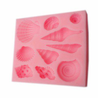 Cake Baking Bakeware Silicone Shell Cowry Texture Mould