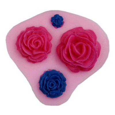 Cake Bakeware Silicone Decor Rose Texture Mould