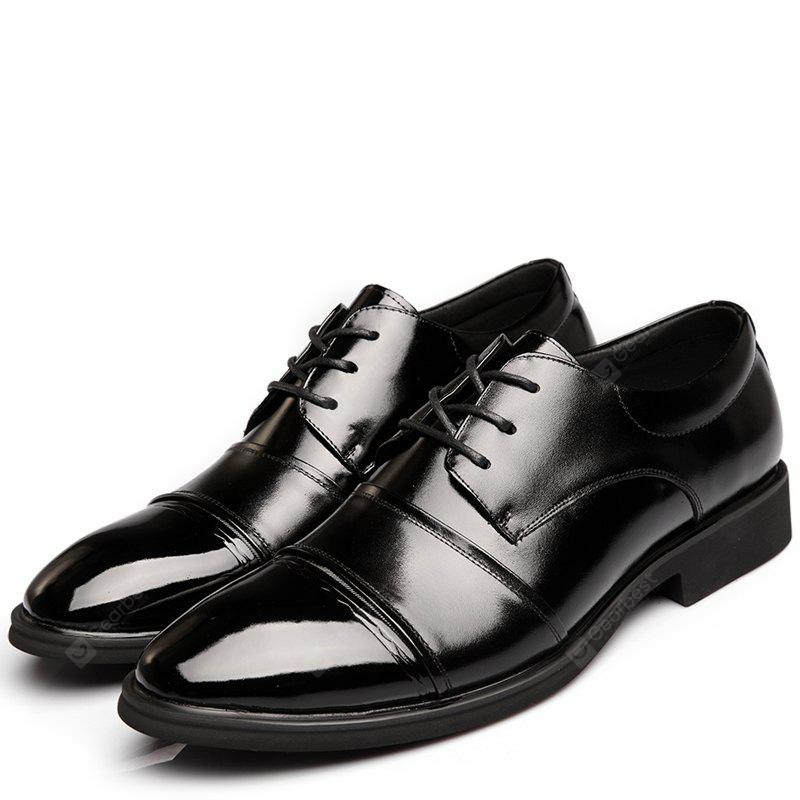 MUHUISEN Breathable Low-cut Stitching leather Shoes