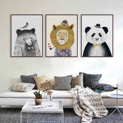 Abstract Style Animal Unframed Canvas Print Wall Art