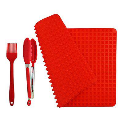 Buffet Silicone Pad Oil Brush Clamp Barbecue Tools Set