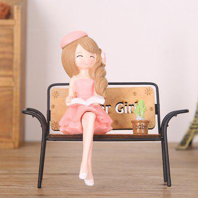 Creative Beautiful Girl Chair for Table Decorations
