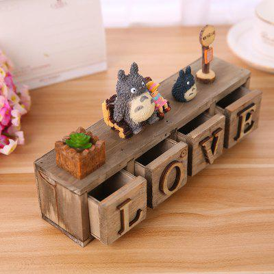 Creative Cartoon Cat Love Letter Small Drawer Decoration