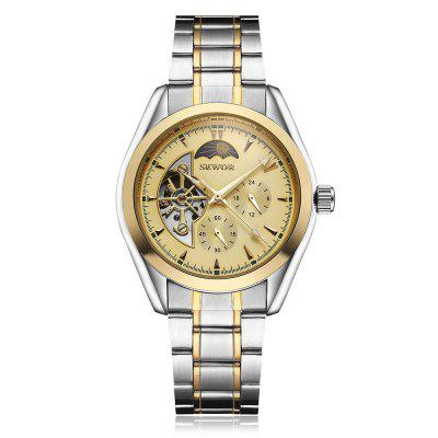 SEWOR S11145 Stainless Steel Band Men Mechanical Watch