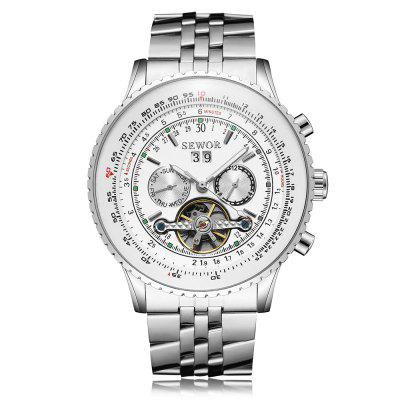SEWOR S11146 Stainless Steel Band Men Watch