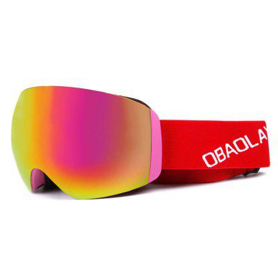 OBAOLAY Double Detachable PC Lens Skiing Glasses