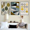 Geometric Abstract Unframed Canvas Print 3pcs - COLORMIX