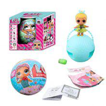 Surprise Ball 10cm Diameter with Changeable Cloth Toy