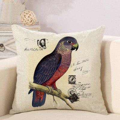 LAIMA Soft Pillowcase Parrot Printed Creative Pillow Cover