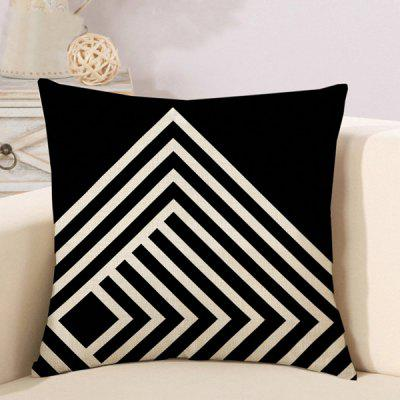 LAIMA Soft Pillowcase Stripe Printed Square Pillow Cover