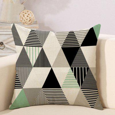 LAIMA Soft Pillowcase Geometric Figure Printed Pillow Cover