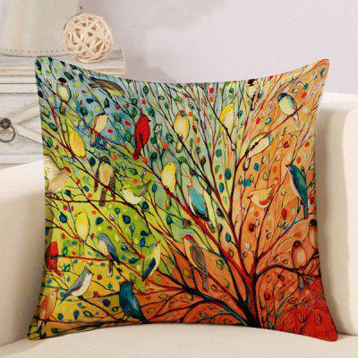 LAIMA Soft Pillowcase Birds Printed Creative Pillow Cover