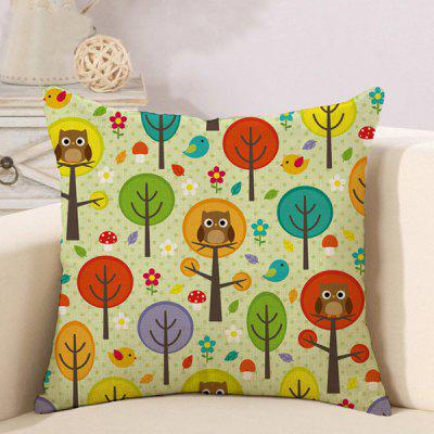 LAIMA Soft Pillowcase Cartoon Tree Printed Pillow Cover