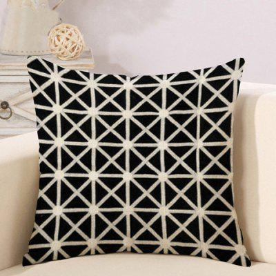 LAIMA Soft Pillowcase Triangular Print Square Pillow Cover