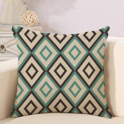 LAIMA Soft Pillowcase Rhombus Printed Square Pillow Cover