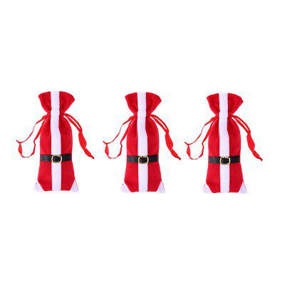 Wine Bottle Bag Christmas Decoration 3PCS